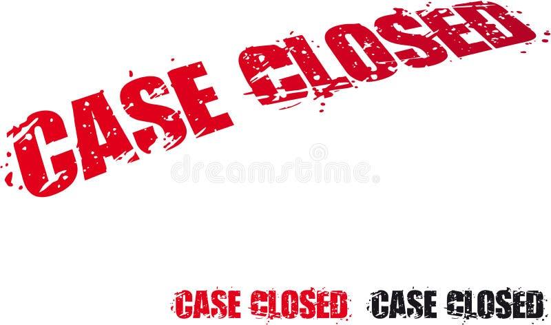 Caso fechado ilustração stock