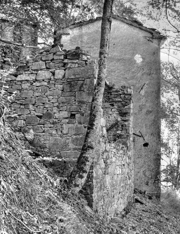 Casoni-Geisterstadt verlassen stockbild