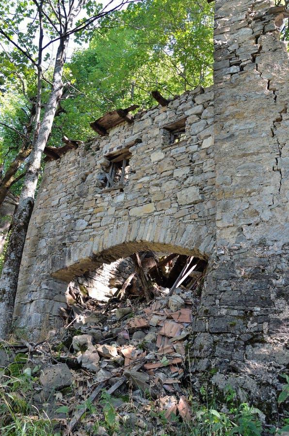 Casoni-Geisterstadt verlassen lizenzfreies stockfoto