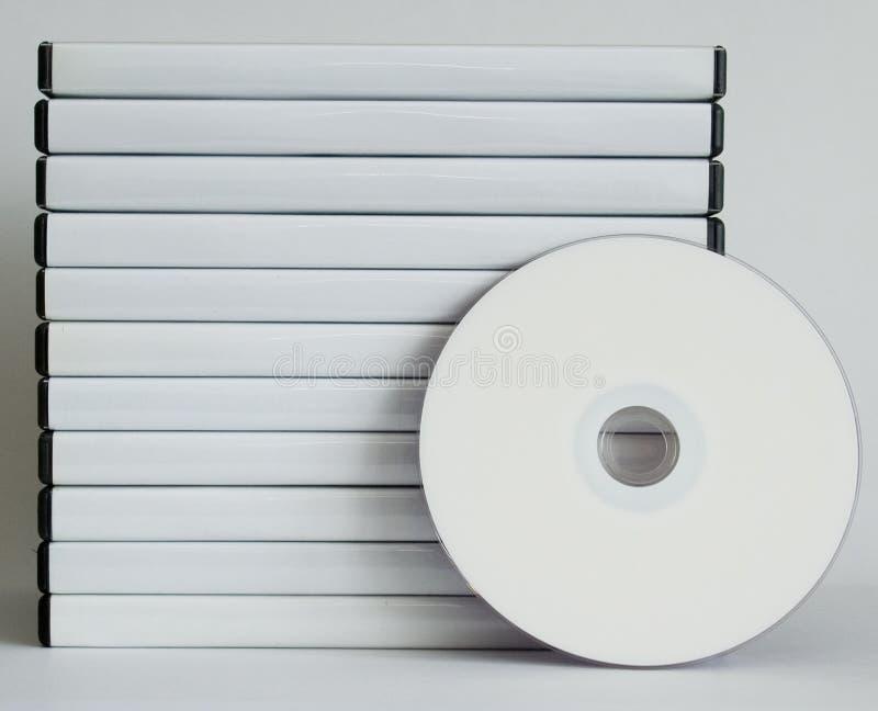 Casos de DVD fotografía de archivo libre de regalías