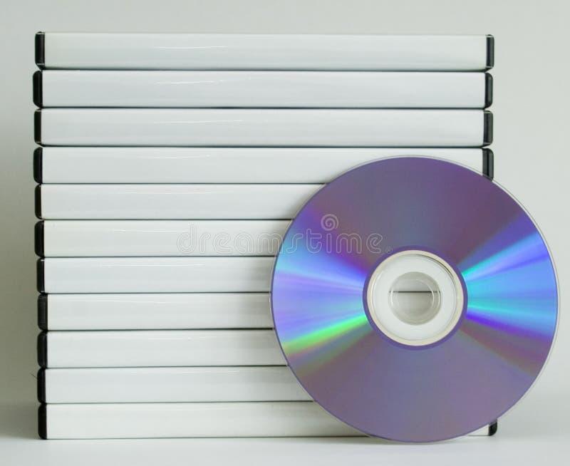 Casos de DVD imagens de stock