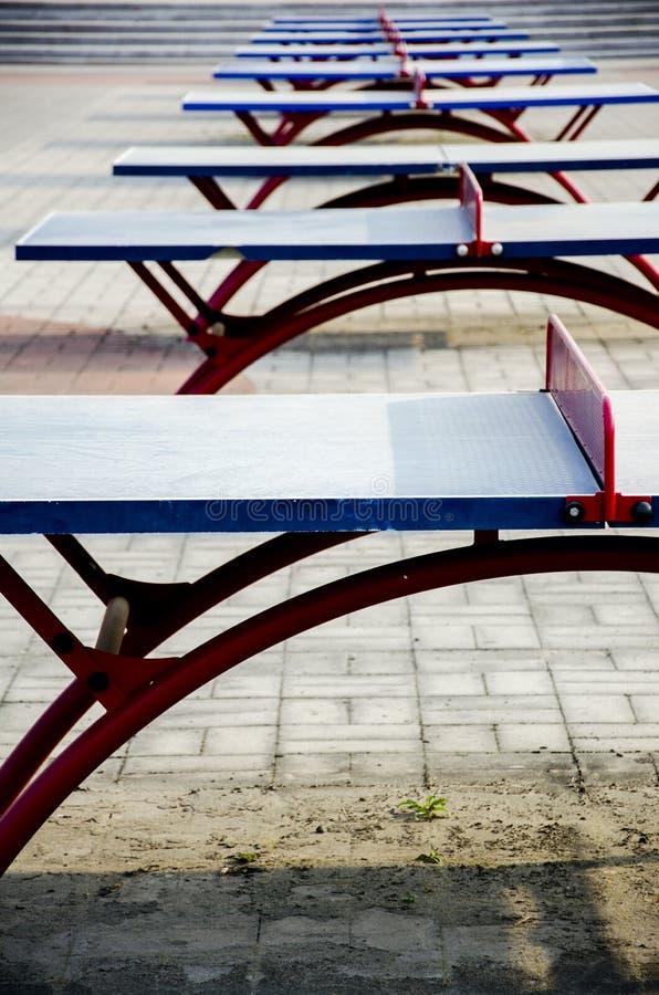 Casos de los tenis de mesa foto de archivo