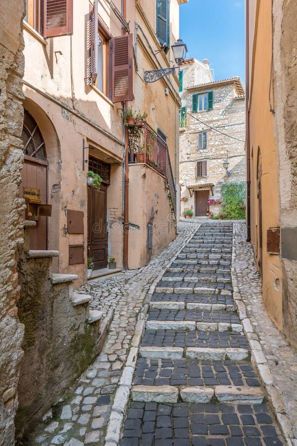 Casperia, medieval rural village in Rieti Province, Lazio, Italy. Casperia is a comune in the Province of Rieti in the Italian region Latium, located about 50 stock photography