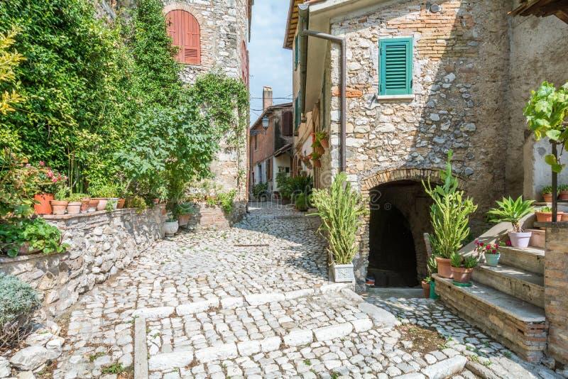 Casperia, medieval rural village in Rieti Province, Lazio, Italy. Casperia is a comune in the Province of Rieti in the Italian region Latium, located about 50 stock photo