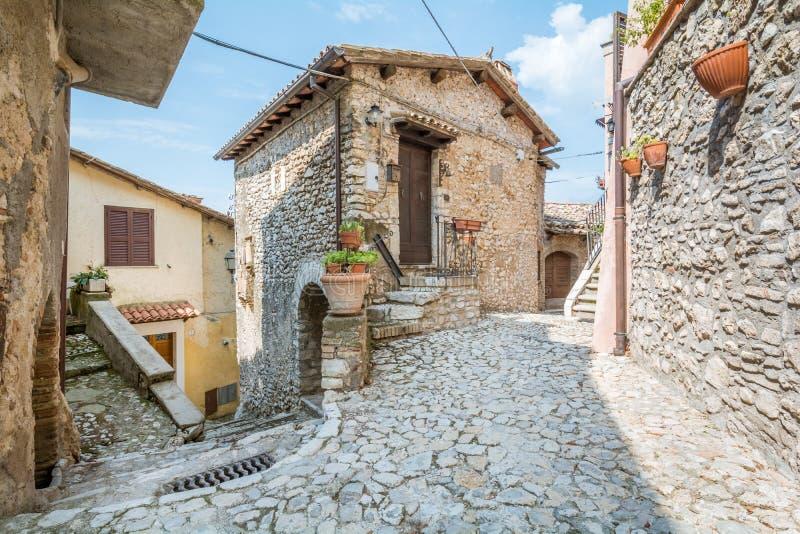 Casperia, medieval rural village in Rieti Province, Lazio, Italy. Casperia is a comune in the Province of Rieti in the Italian region Latium, located about 50 royalty free stock photos