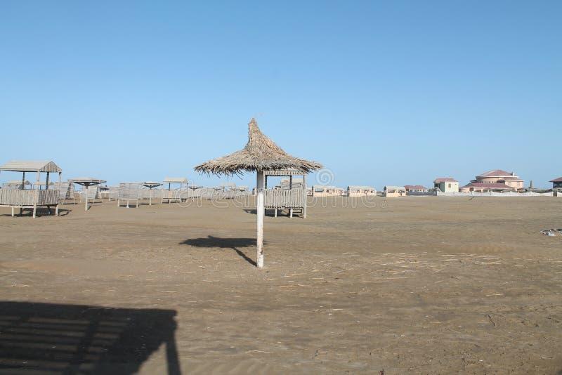 caspian hav Strand överge Höst royaltyfria bilder