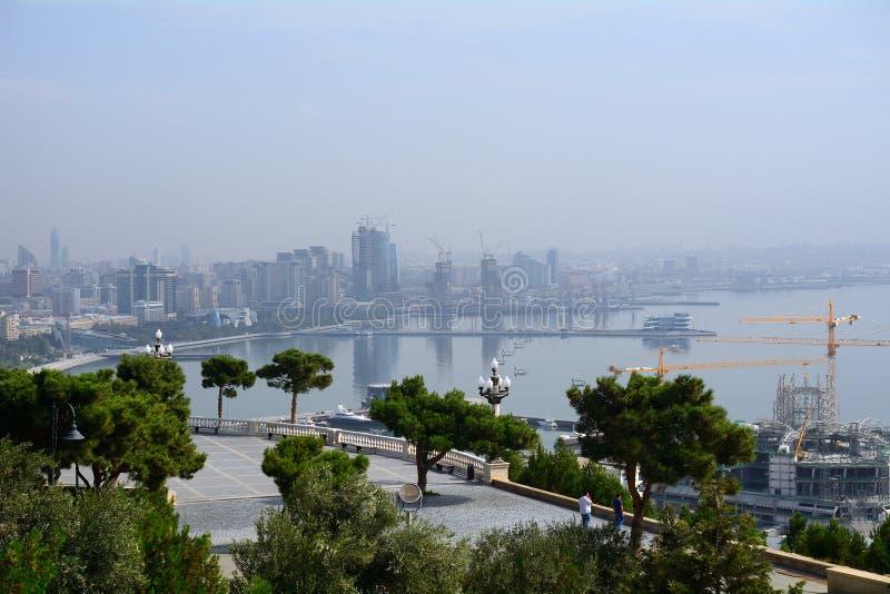 Caspian kust, Baku, Azerbajdzjan arkivfoton