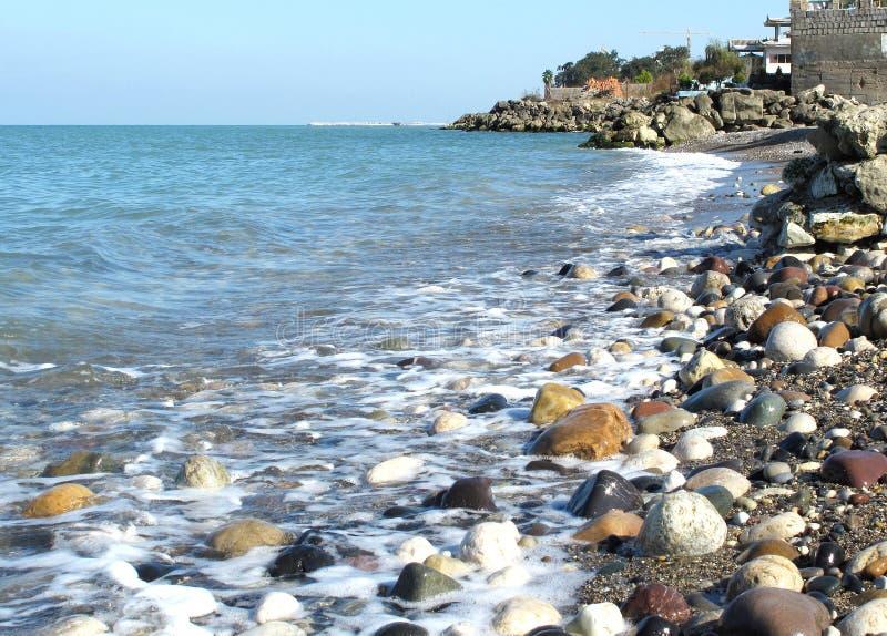 caspian strand fotografering för bildbyråer