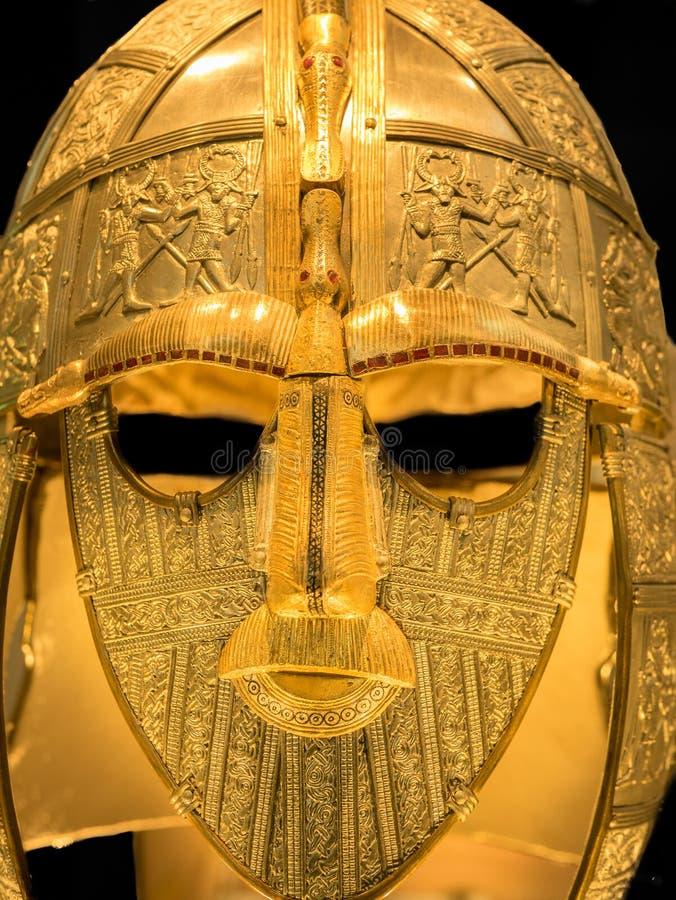 Casque anglo de Saxon photo libre de droits
