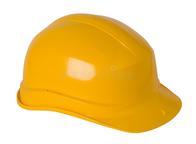 Casque antichoc jaune photos stock