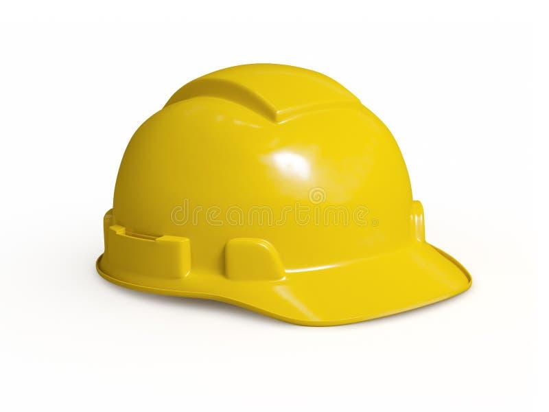 Casque antichoc jaune de travailleur de la construction illustration stock