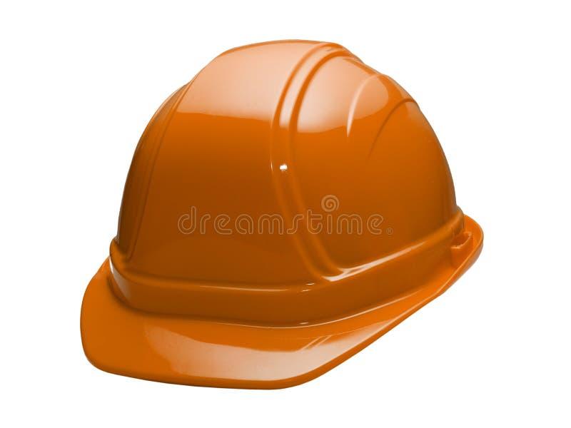 Casque antichoc orange images stock