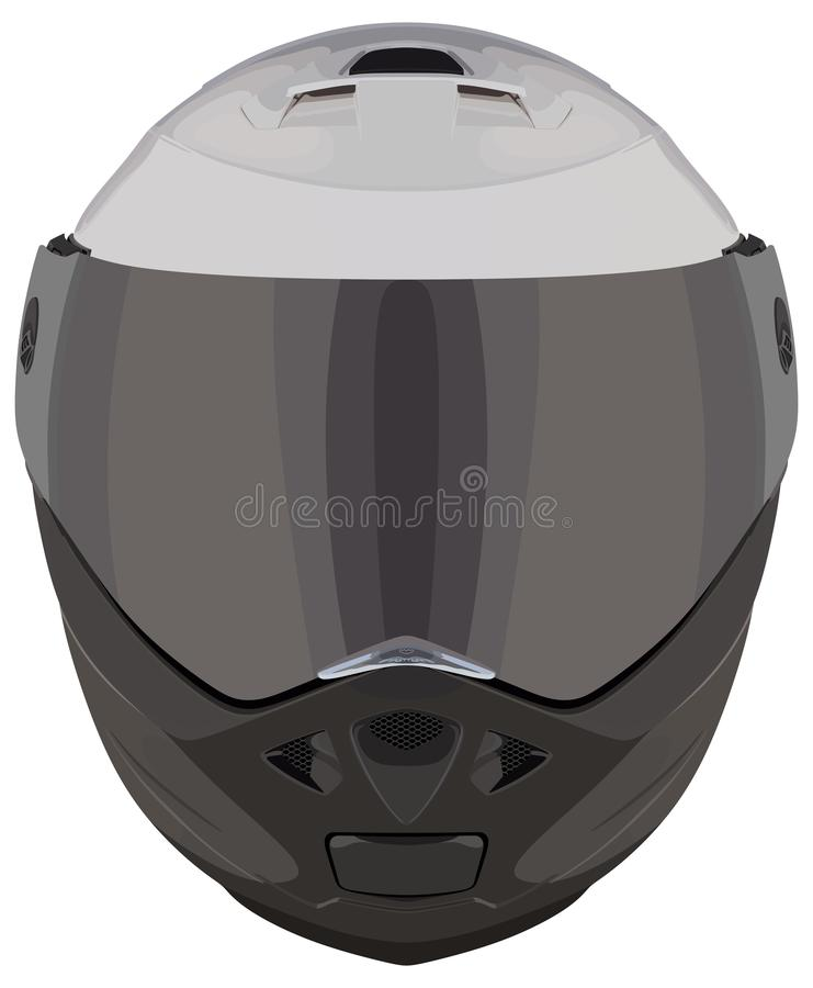 Casque avant de moto photos stock