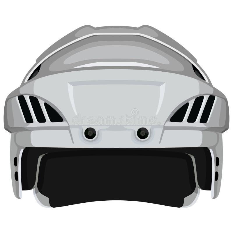 Casque blanc d'hockey illustration stock