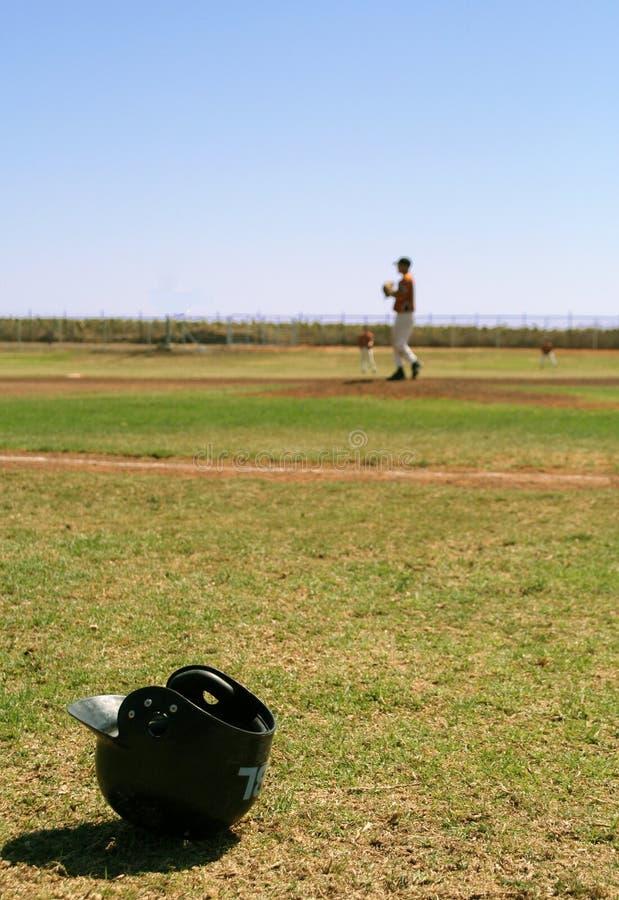 Casque de base-ball images libres de droits