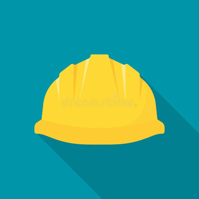 Casque de construction Chapeau de sécurité jaune illustration libre de droits