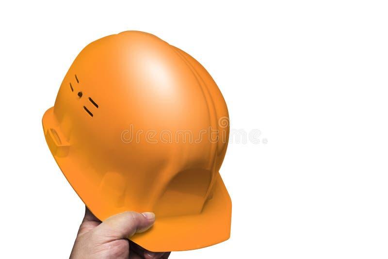 Casque de construction, hommes disponibles de casque images libres de droits