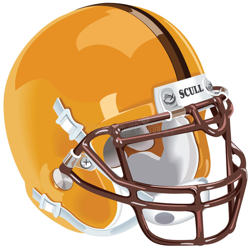 Casque de football illustration stock