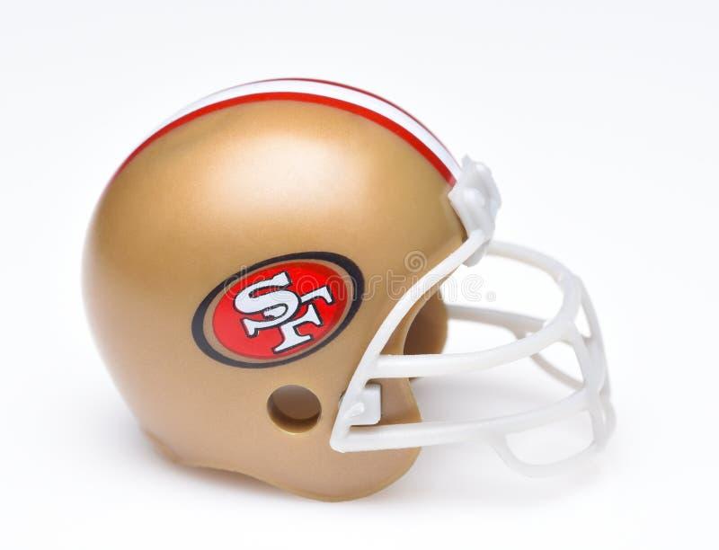 Casque de football de San Francisco 49ers photographie stock libre de droits
