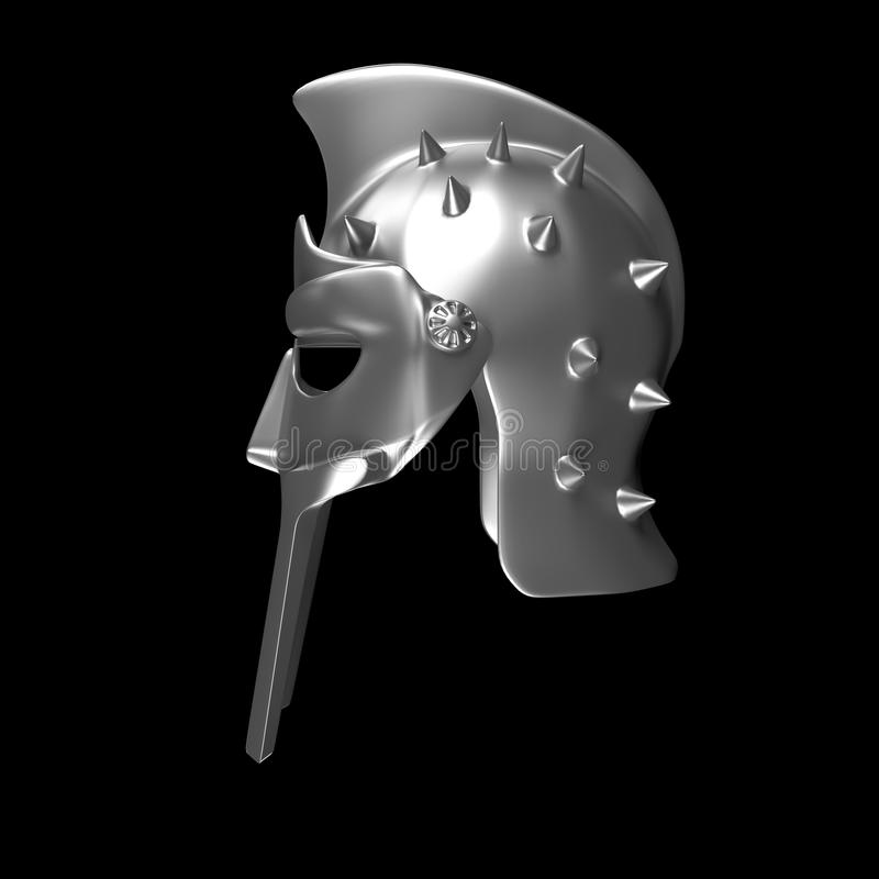 Casque de gladiateur illustration de vecteur
