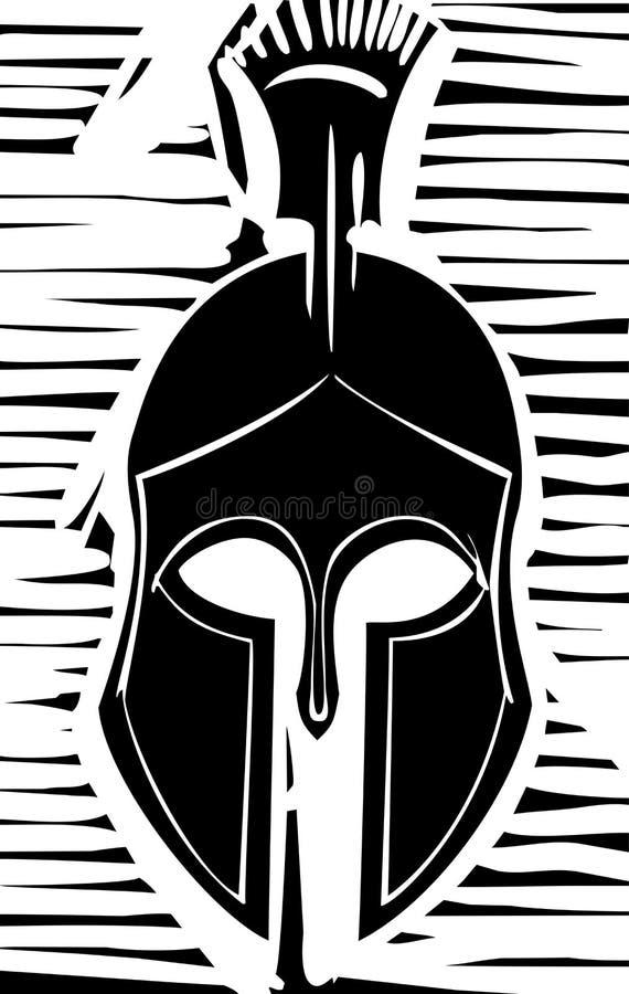 Casque de Grec de Hoplite illustration libre de droits