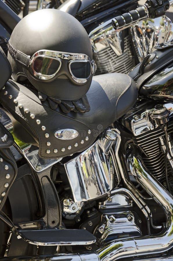 Casque De Moto Photographie stock
