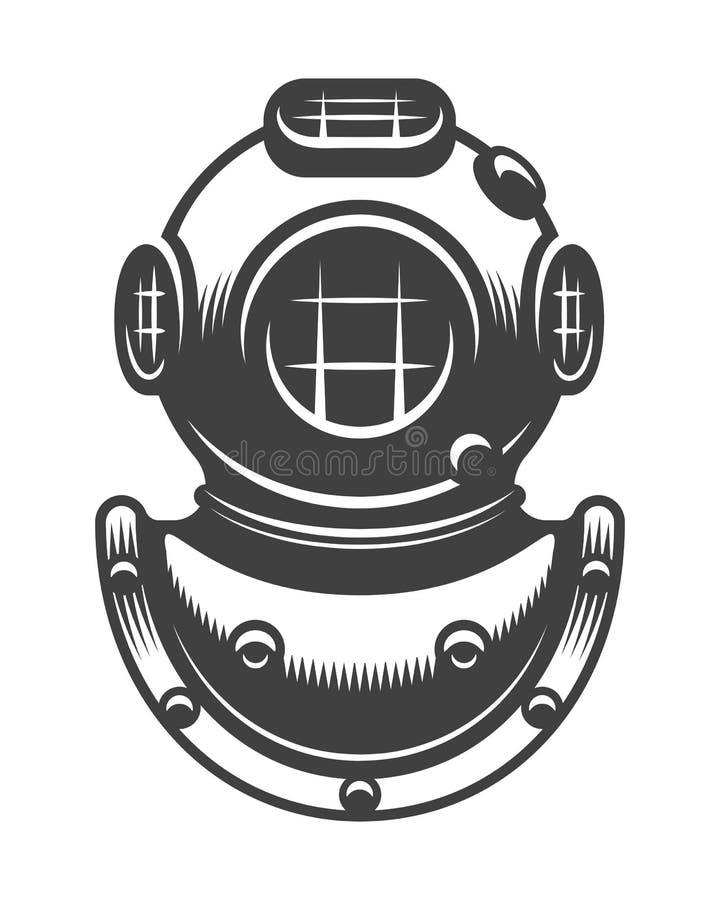 Casque de plongée de vintage illustration libre de droits