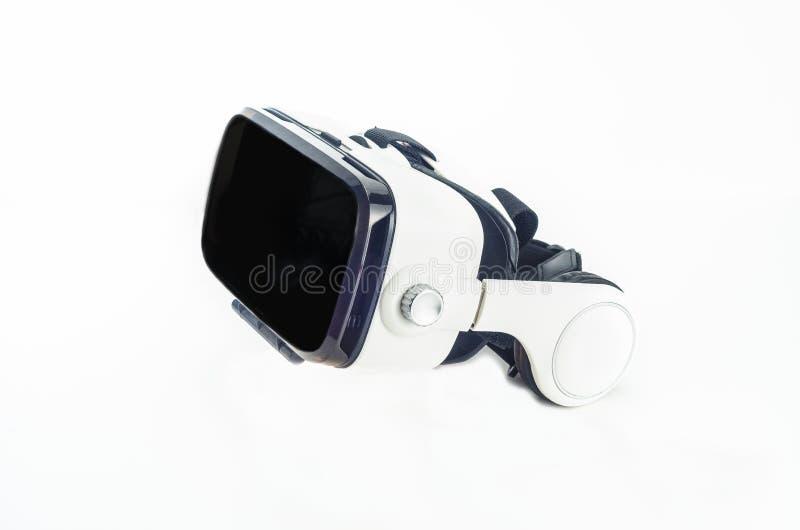 Casque de réalité virtuelle d'isolement sur le fond blanc image libre de droits