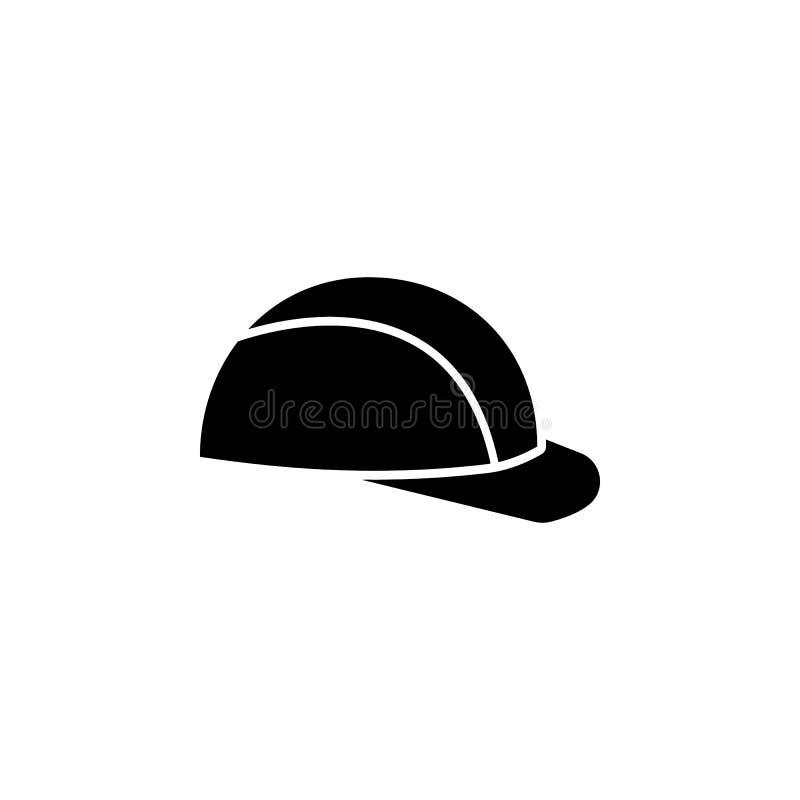 Casque de sécurité, icône de casque antichoc Les éléments de la construction usine l'icône Conception graphique de qualité de la  illustration stock