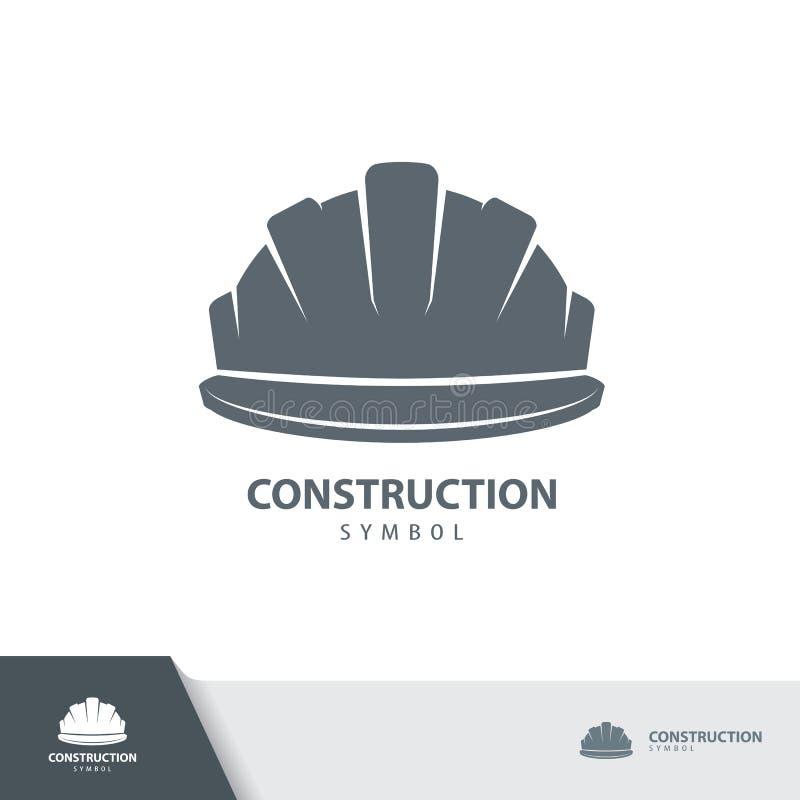 Casque de sécurité, symbole d'icône de casque antichoc illustration stock