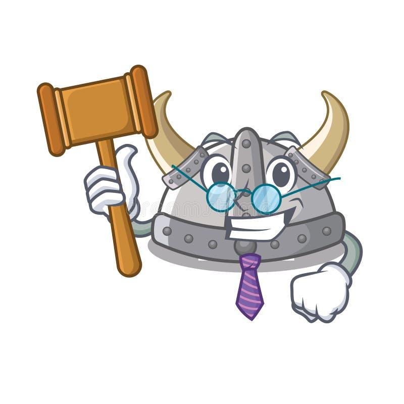 Casque de Viking de juge dans la bande dessinée d'a illustration de vecteur