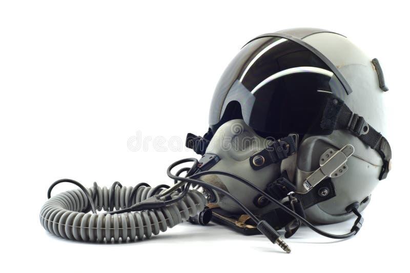 Casque de vol avec le masque à oxygène. photographie stock