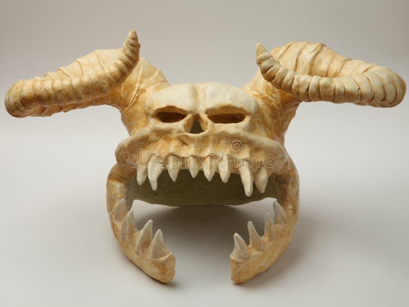 Casque du monstre de crâne photographie stock