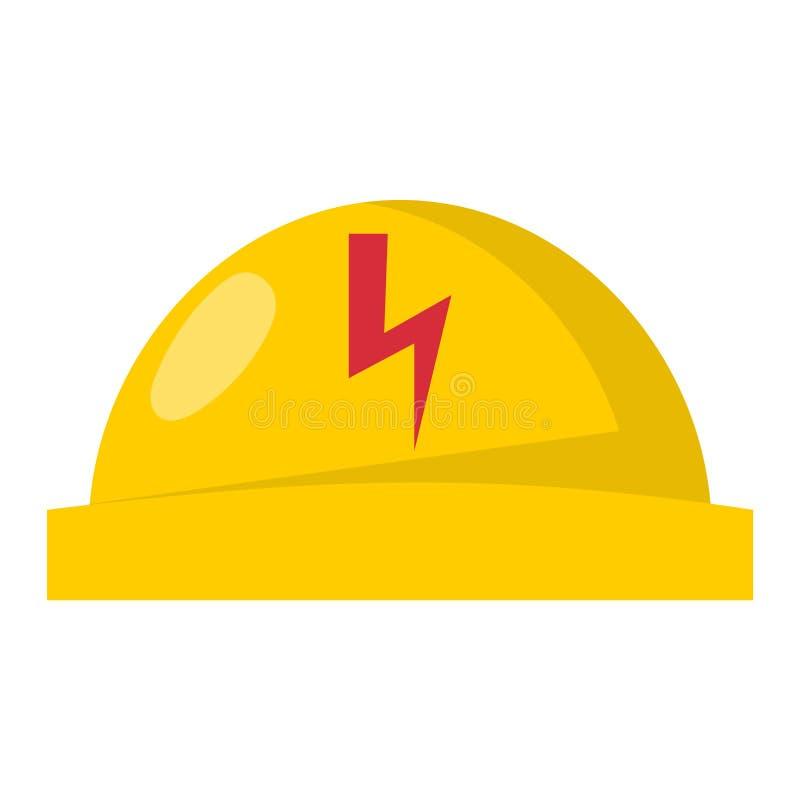 Casque en plastique jaune ou illustration sûre de vecteur d'équipement de tête d'ingénieur de casque antichoc de sécurité dans la illustration stock