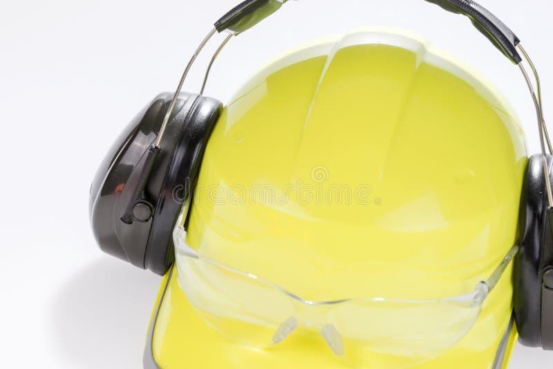 Casque et écouteurs protecteurs fonctionnants photos libres de droits