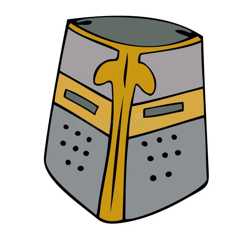 Casque médiéval. illustration libre de droits