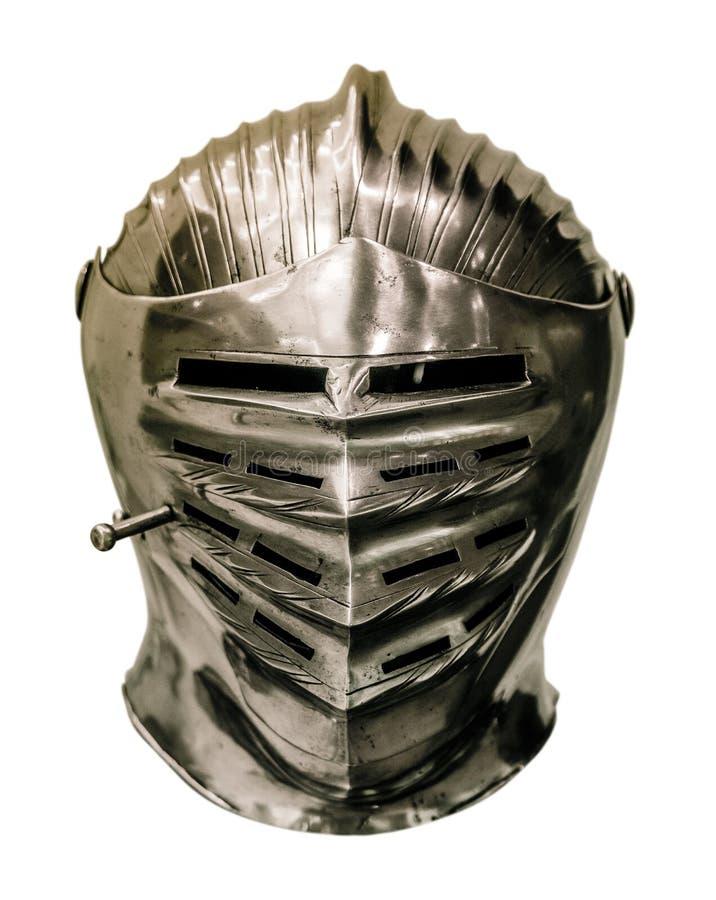 Casque médiéval d'armure de chevaliers images stock