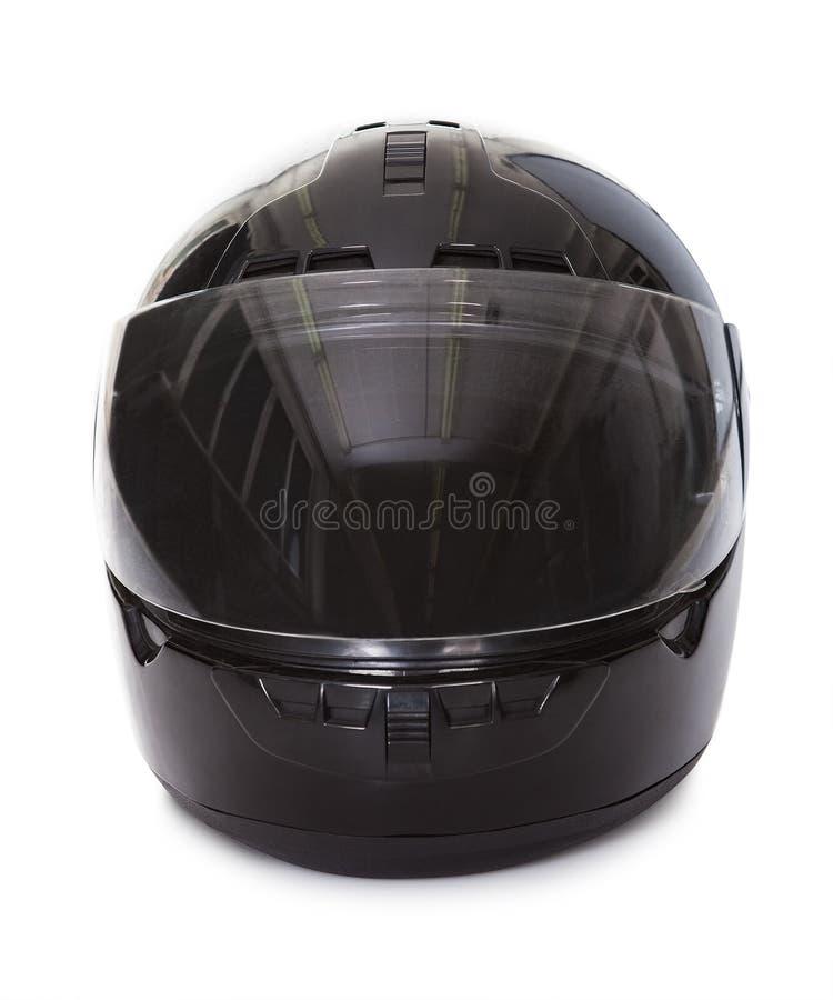 Casque noir de moto photo stock