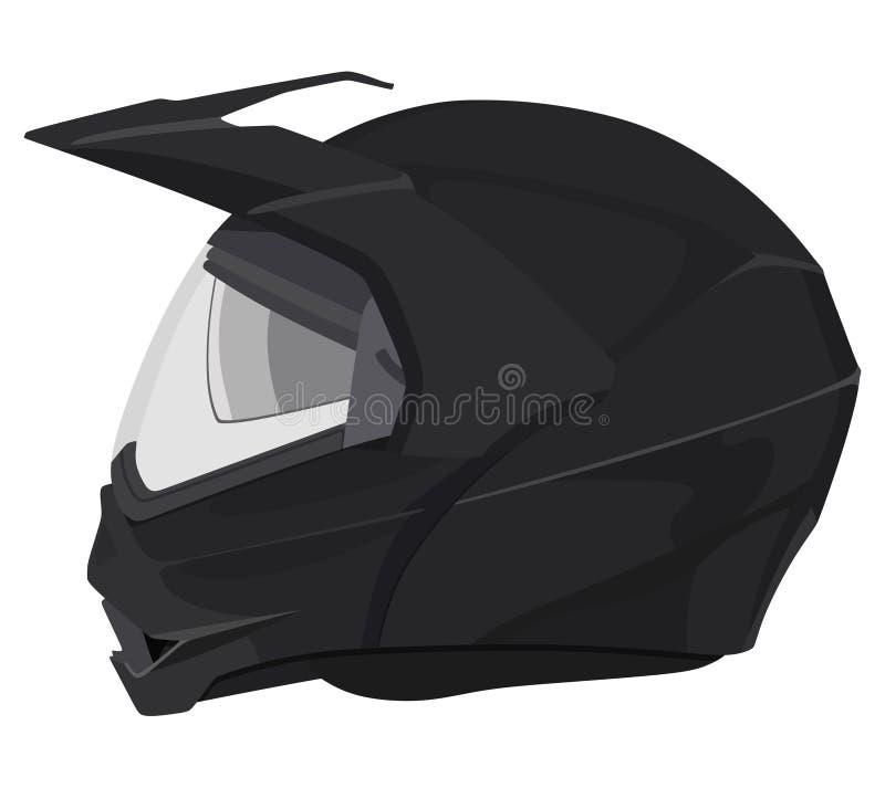 Casque noir de moto illustration stock