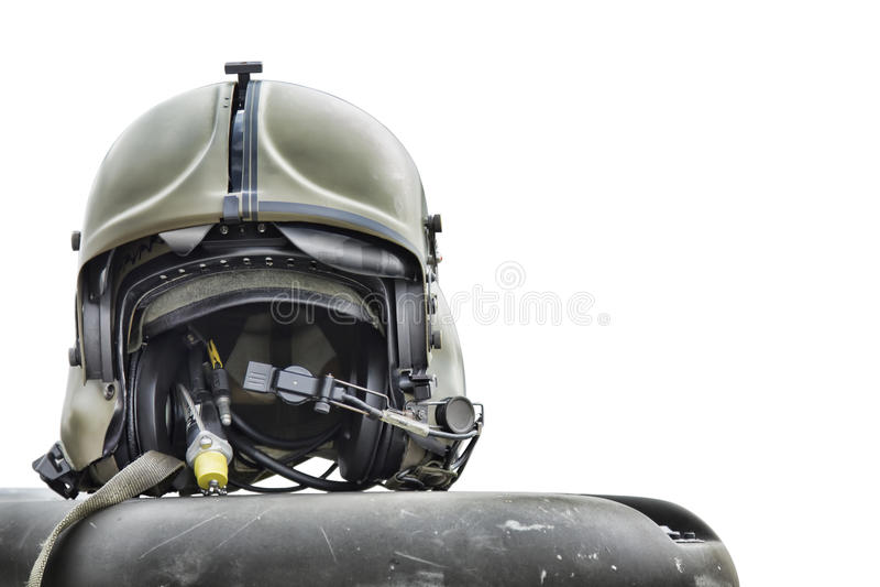 Casque pilote d'hélicoptère photos libres de droits