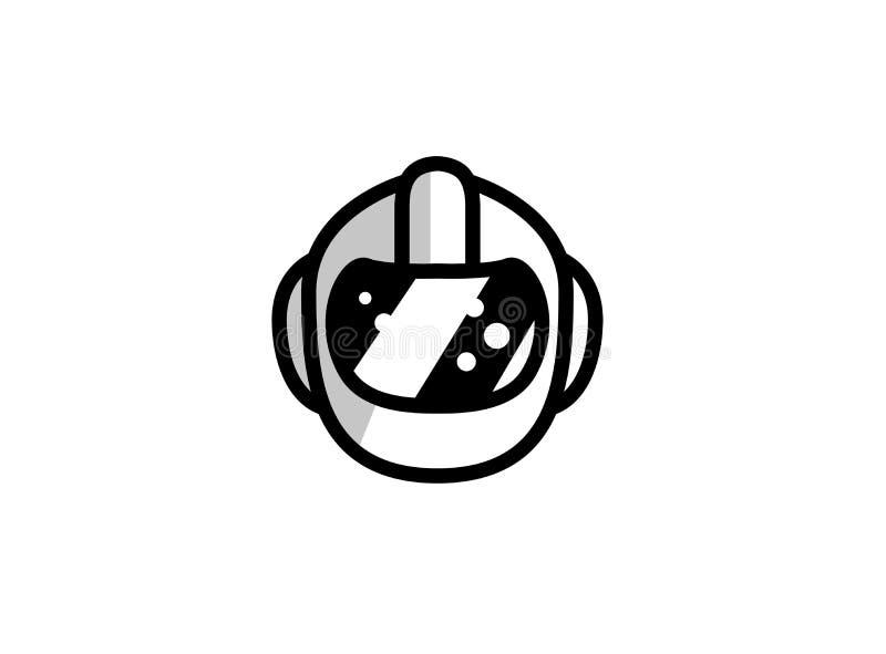 Casque pour la sécurité principale pour le logo illustration de vecteur