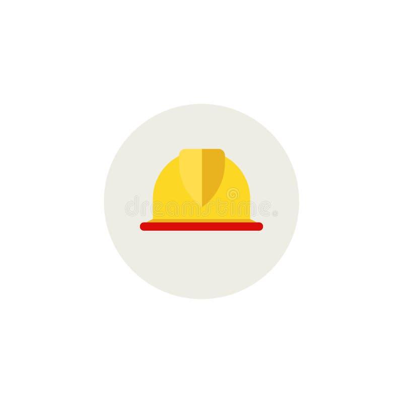 Casque pour le travailleur de la construction Or Foreman Icône plate de nouveau style Concept matériel d'illustration de concepti illustration stock