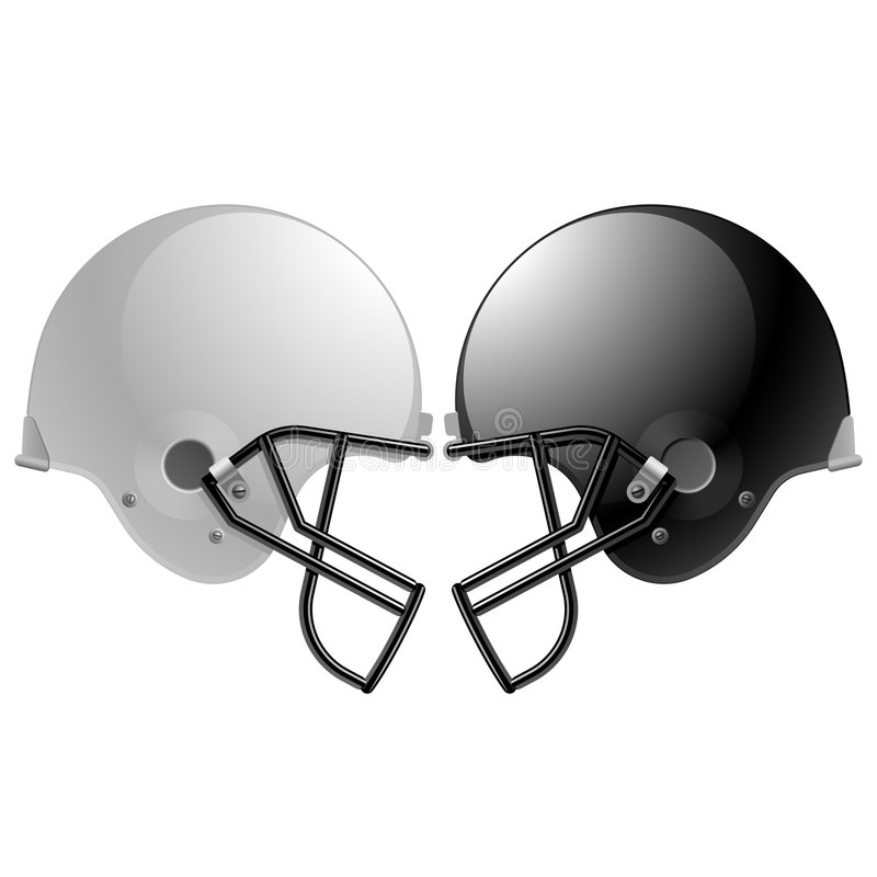 casques de football illustration de vecteur