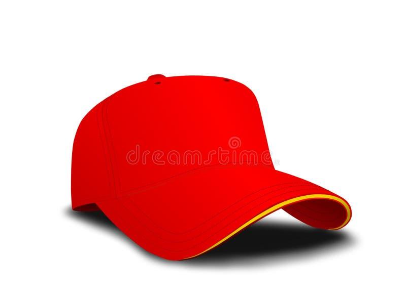 Casquette de baseball rouge illustration stock