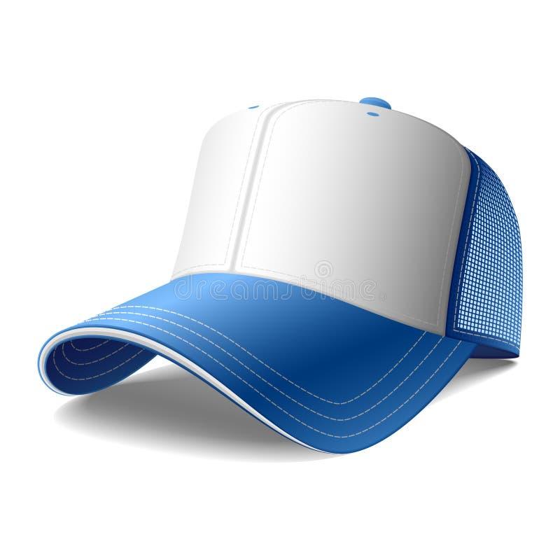 Casquillo azul. Vector. ilustración del vector