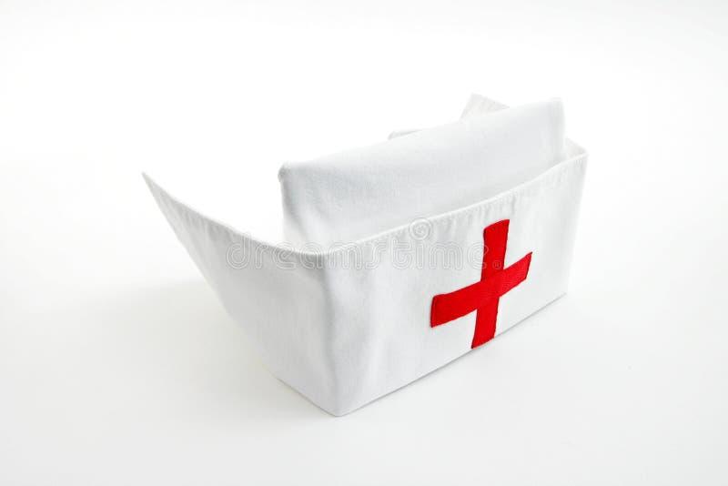 Casquillo de la enfermera imagen de archivo