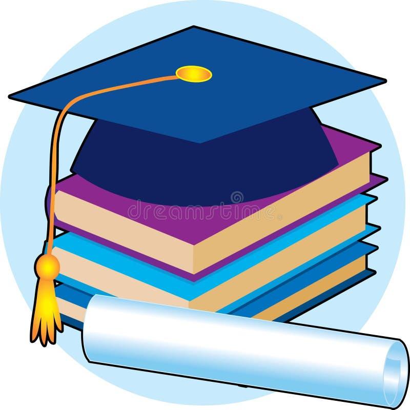 Casquillo de la graduación stock de ilustración