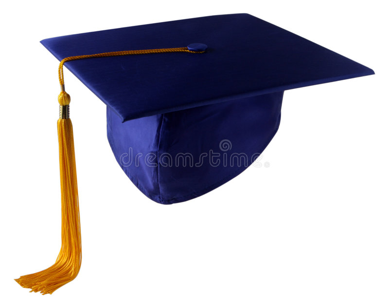 Casquillo de la graduación foto de archivo