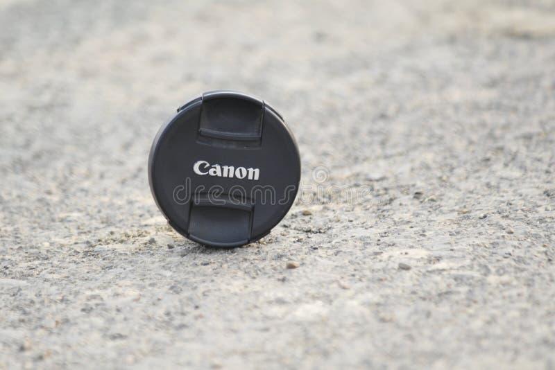 Casquillo de lente de Canon imagenes de archivo