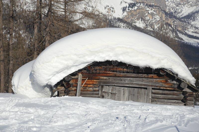 Casquillo grande de la nieve fotos de archivo libres de regalías